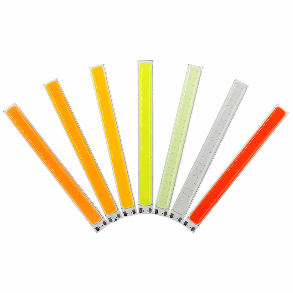 100mm LED Light Strip 12V COB Bulb 10W LED Lamp Green Red Cold Blue Yellow Orange Pink Purple Color 100*10mm LED Bar Lights Chip