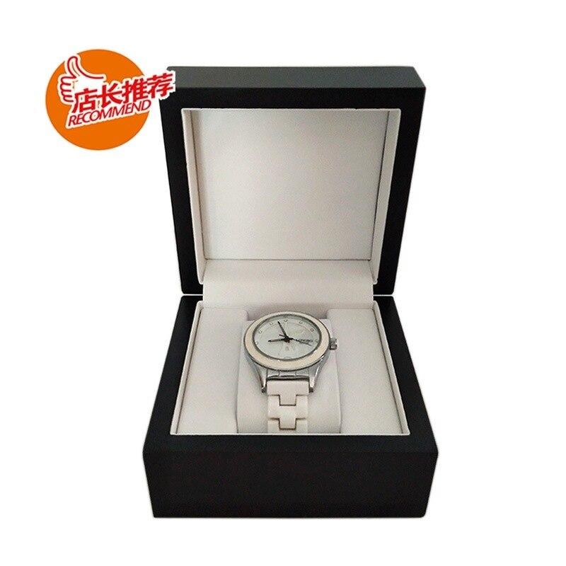 Grau de Pintura de Madeira Caixa de Relógio de Presente Caixa de Presente Caixa de Relógio de Homens e Mulheres -alto Único Homens Mulheres de e
