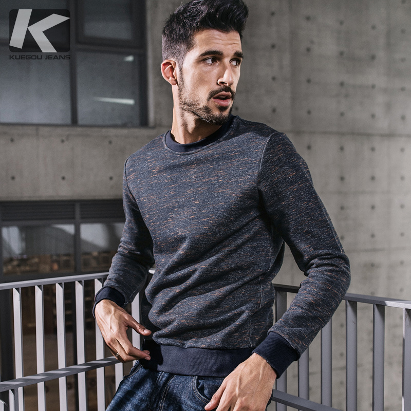 KUEGOU New Autumn Mens Fashion Sweatshirts Blue Color Brand Clothing For Man's Slim Pullovers Male Wear Clothes Tracksuit 7082-in Hoodies & Sweatshirts from Men's Clothing on Aliexpress.com | Alibaba Group