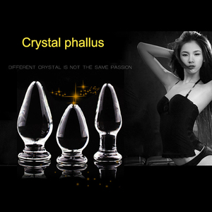 2019 1 Pcs Butt Anal Plug Glass Sex Adult Toy Safe Comfortable Gifts for Women Men DC88(China)