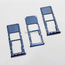 10pcs/lot SIM Micro SD Card Tray Slot For Samsung A7 2018 A750 A750F 6.0 Inch Card Reader Holder цена