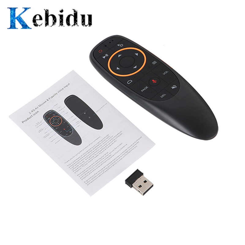 kebidu G10 2.4G USB Receiver Air Mouse Voice Control with <font><b>G10s</b></font> for Gyro Sensing Mini Wireless Smart Remote for Android TV BOX image