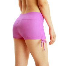 New Women Quick Dry Yoga Shorts Breathable  Swimming Trunks Sports Running Fitness Drawstring Beach yoga pantalon corto