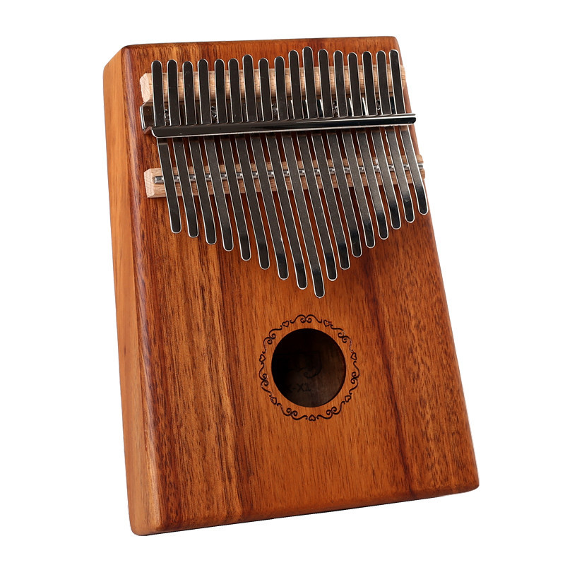 Купить с кэшбэком Hotsell 17 Keys Kalimba Solid KOA/Mahogany Wood Mbira Calimba Thumb Finger Piano 17 keys with Bag and accessories free shipping