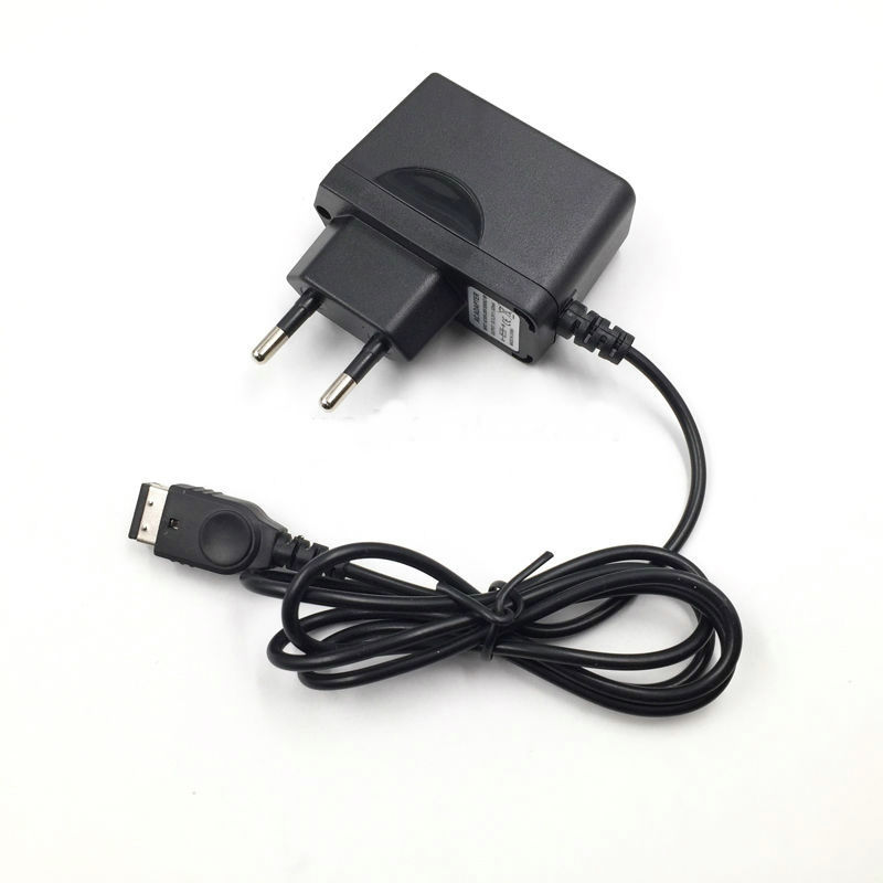 100pcs 1M EU Plug AC Charger Hone Wall Adapter For Nintendo Dual Screen NDS Gameboy Advance GBA SP Game Console Power Adapter