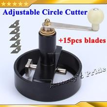 Все металлические Multi-7Sizes регулируемый круглый поворотный круг графическая бумага Cutte+ 5 шт. лезвие Die кнопка на плате производитель