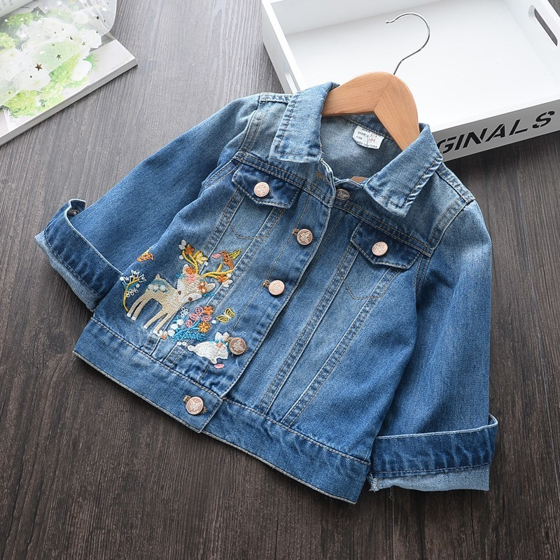 baby girl denim jacket for girl spring jacket long sleeve embroidery flower fashion kids jacket baby girl clothes new boutiques baby girl denim jacket for girl spring jacket long sleeve embroidery flower fashion kids jacket baby girl clothes new boutiques