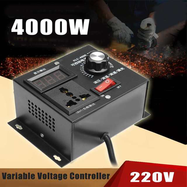 WOLIKE 220V 4000W Variable Voltage Controller For Fan Speed Motor Control Dimmer Speed Temperature Voltage Adjustment