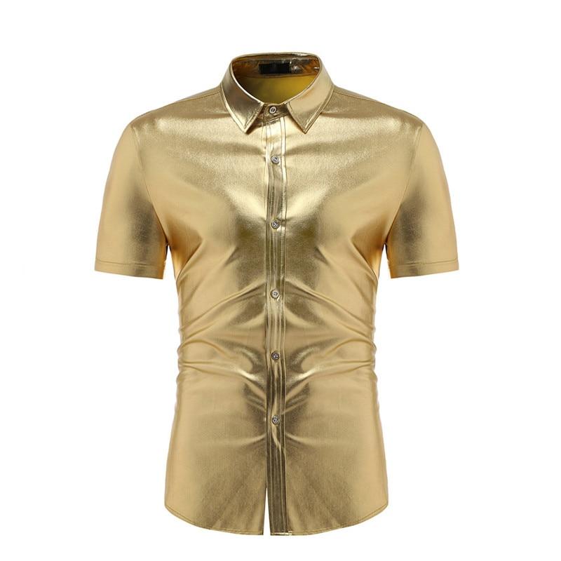 Neue Simulierten Seide Helle Gesicht Langarm Reine Farbe Hemd Für Männer Dünne Lange Hülse Hemd Mode Casual Shirt Für Männer