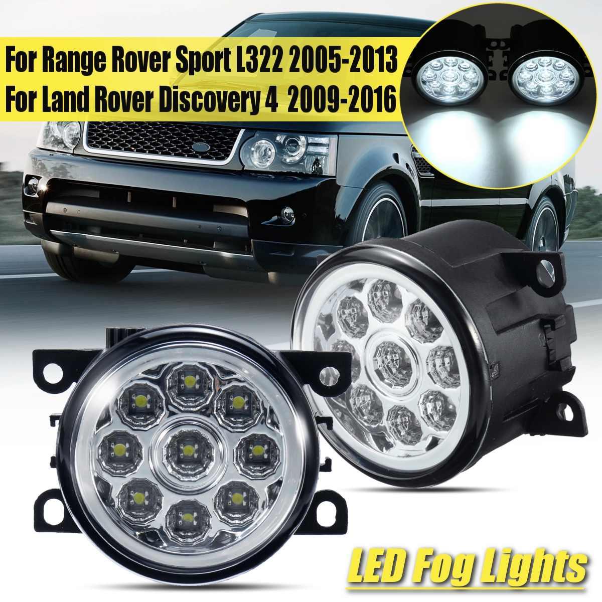 2Pcs Front 12V Led Fog Light For Range Rover Sport L322 2005-2013 Discovery 4 2009-2016 Land Rover Drl Bumper Foglights Origin