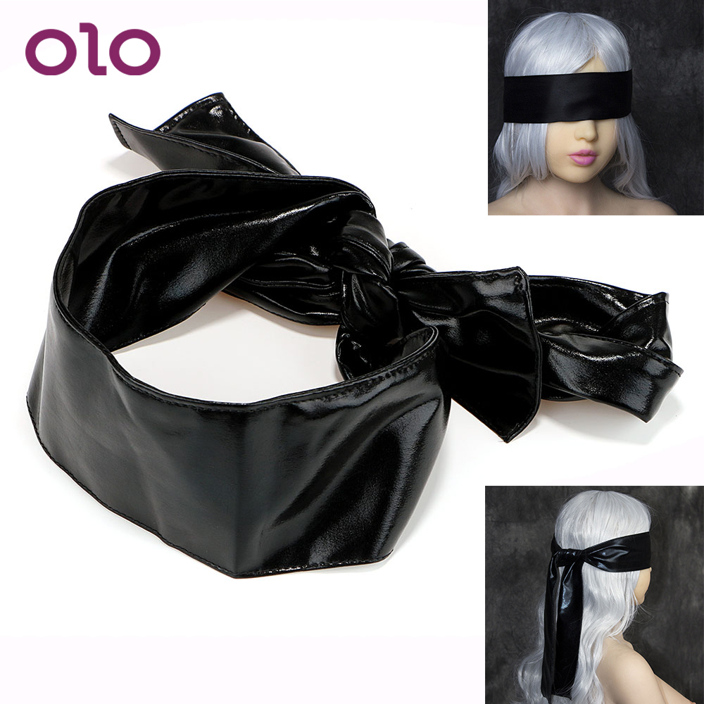OLO Sexy <font><b>Eye</b></font> <font><b>Mask</b></font> <font><b>Eyes</b></font> Patch Belt Blindfold Masque Satin Ribbon <font><b>Sex</b></font> Toys For Couples SM Bondage Flirt 1.5M Adult Products image