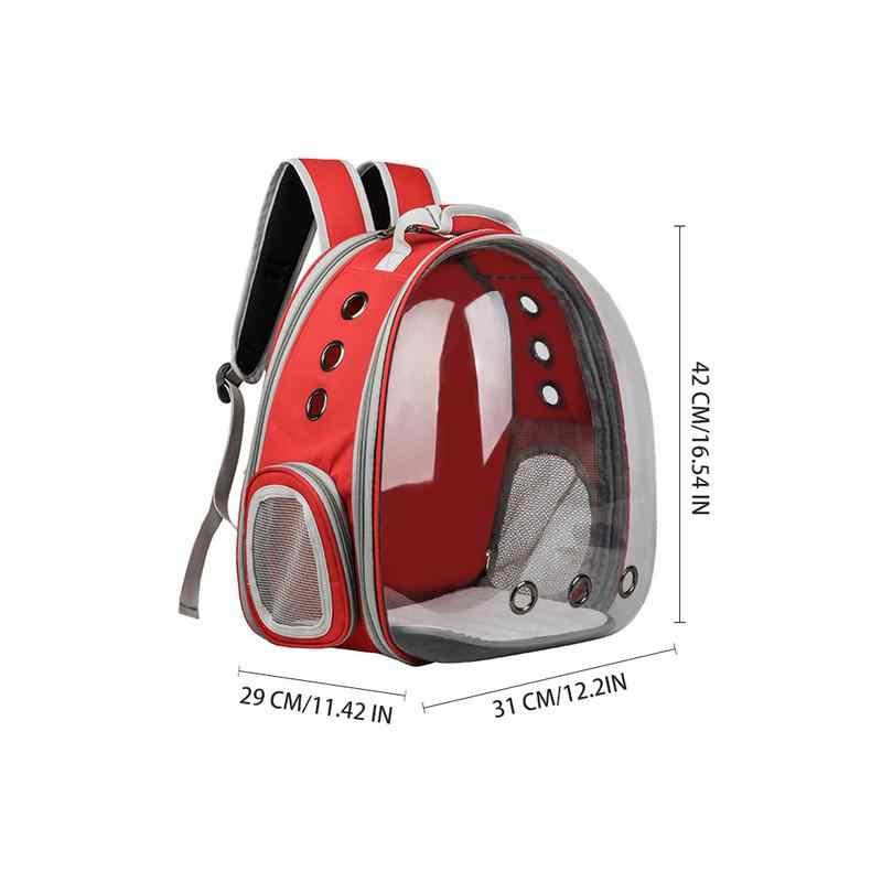 Оксфорд Multi-function Cat сумка Прозрачный Pet Out чехол складной открытое пространство палаточный рюкзак 29x31x42 см
