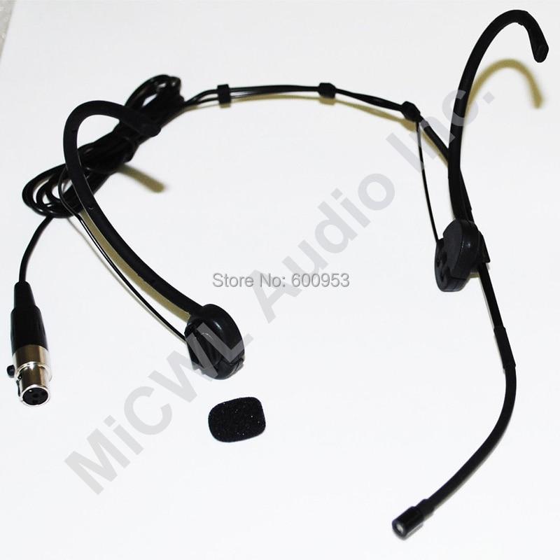 black foldable headset mic microphone for shure slx pgx ut blx wireless mike beltpack. Black Bedroom Furniture Sets. Home Design Ideas