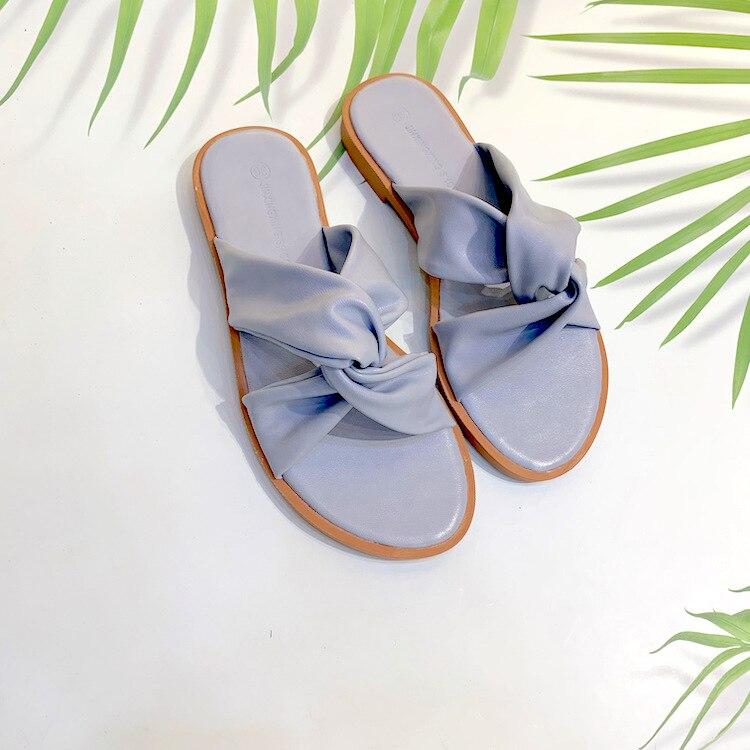 Strand Flache Reise blue Fliege Hausschuhe Kühlen Rutschen flops Flip Apricot Schuhe Sommer Frauen Ferse wExI6qSEp