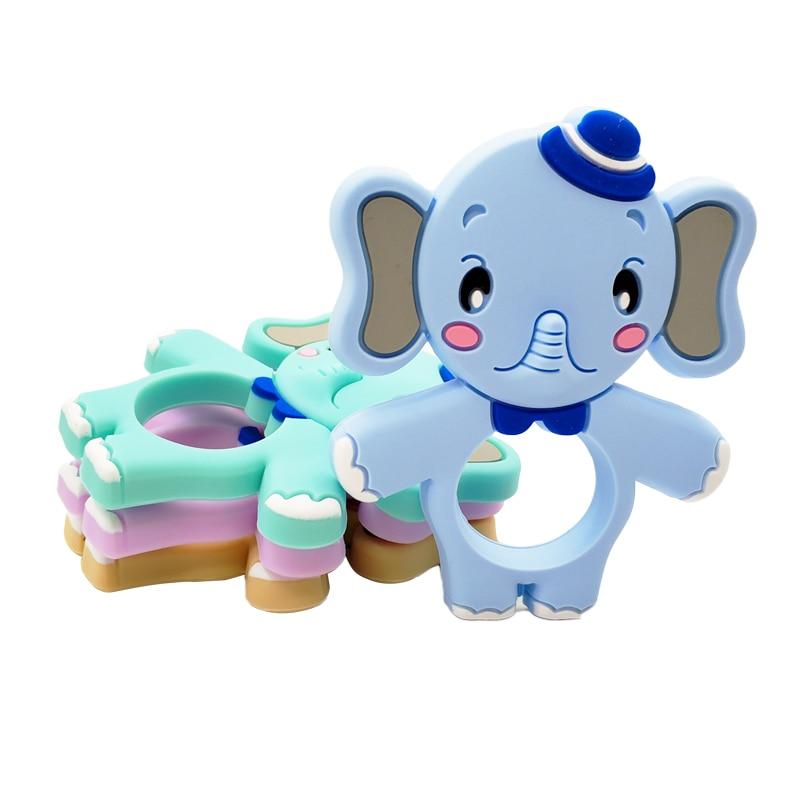 1 Pc Food Grade Silikon Baby Beißring Perlen Elephant Diy Kauen Halskette Pflege Werkzeug Kleinkind Zahnen Spielzeug Charme Geschenk Bpa Freies StäRkung Von Sehnen Und Knochen