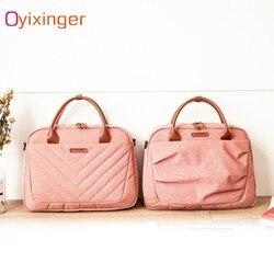 Oyixinger Neue Mode Aktentasche Frauen Handtaschen Büro Laptop Taschen Für Männer Computer Business Schulter Umhängetasche Reisetaschen
