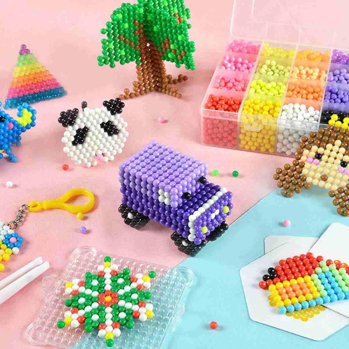 8000pcs Magia Di Puzzle Giocattoli Acqua Nebulizzata Bead Set Delle Ragazze Dei Ragazzi FAI DA TE Fatto A Mano Animale Appiccicoso Perline Giocattoli Educativi Per Bambini regali
