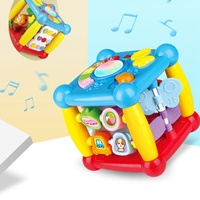 Baby Early Learning Music Toy Multi functional Cartoon Electric Music Toy Educational Toys Hexahedron Game Box For Children