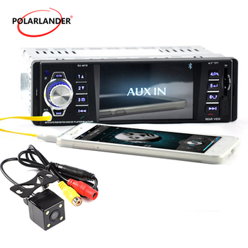 1 Din Car Radio With 4LED Camera DC 12V Stereo Bluetooth Support TFT SD USB MMC Aux-in 4.1″  MP4/MP3/MP5 Player 1080P HD