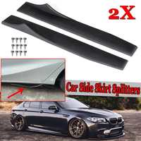 1 Pair New Universal Car Body Side Skirt Extension Rocker Splitters Winglet Wings Canard Diffuser Decorative Protection 88cm