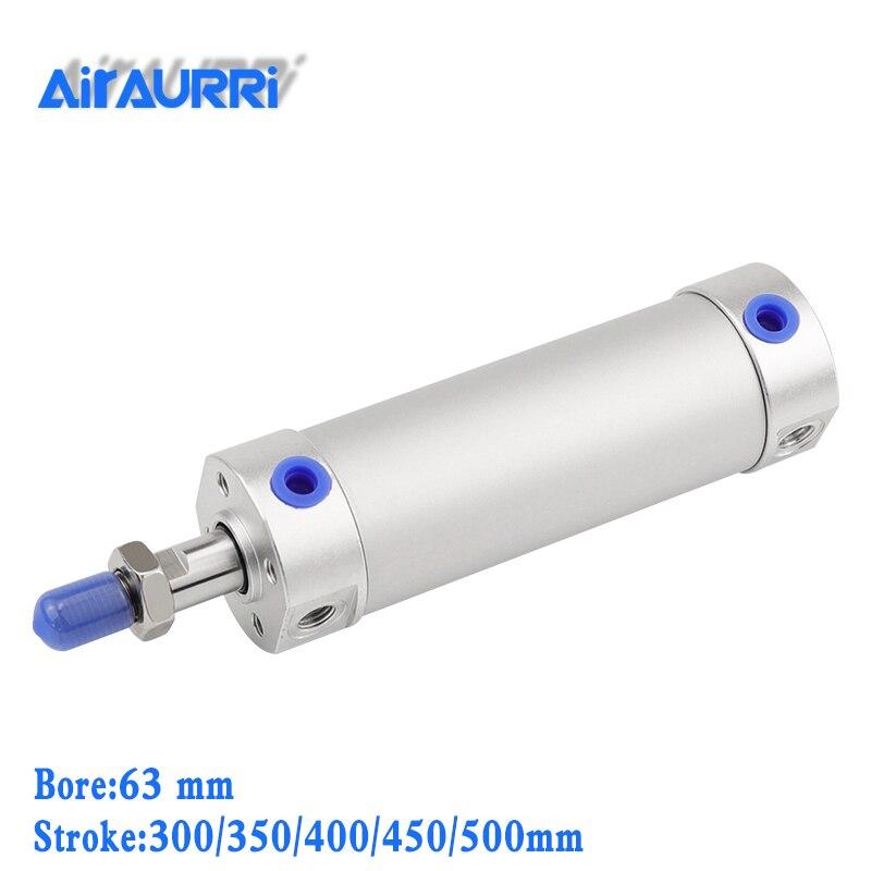 Круглый цилиндр 63 мм диаметр 300/350/400/450/500 мм ход CG1BN резиновый бампер/CG1BA воздушная подушка система управления воздушным цилиндром