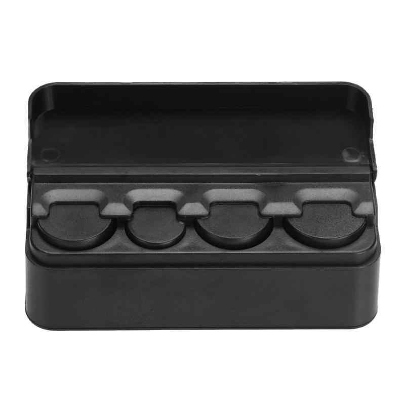 1 pièces noir voiture intérieur Coin Case Auto stockage support de la boîte conteneur organisateur plastique changement boîte facile à stocker et à transporter