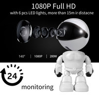 Baby Camera 1080P HD Wireless Smart Baby Monitor WiFi IP ROBOT Camera Audio Video Record Surveillance Home Security Camera
