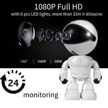 תינוק מצלמה 1080 P HD אלחוטי חכם תינוק צג WiFi IP רובוט מצלמה אודיו וידאו שיא מעקב אבטחת בית מצלמה
