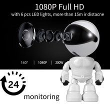 كاميرا لمراقبة الأطفال 1080P HD اللاسلكية الذكية مراقبة الطفل واي فاي IP كاميرا روبوت الصوت والفيديو سجل مراقبة كاميرا مراقبة للمنزل