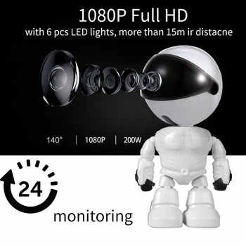 Baby Camera 1080P HD Wireless Smart Baby Monitor WiFi IP ROBOT Camera  Audio Video Record Surveillance Home Security Camera - DISCOUNT ITEM  11% OFF All Category