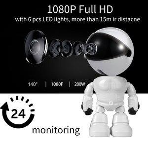 Image 1 - Caméra de Surveillance intelligente IP WiFi HD 1080P, dispositif de sécurité domestique sans fil, babyphone vidéo, avec enregistrement Audio et vidéo