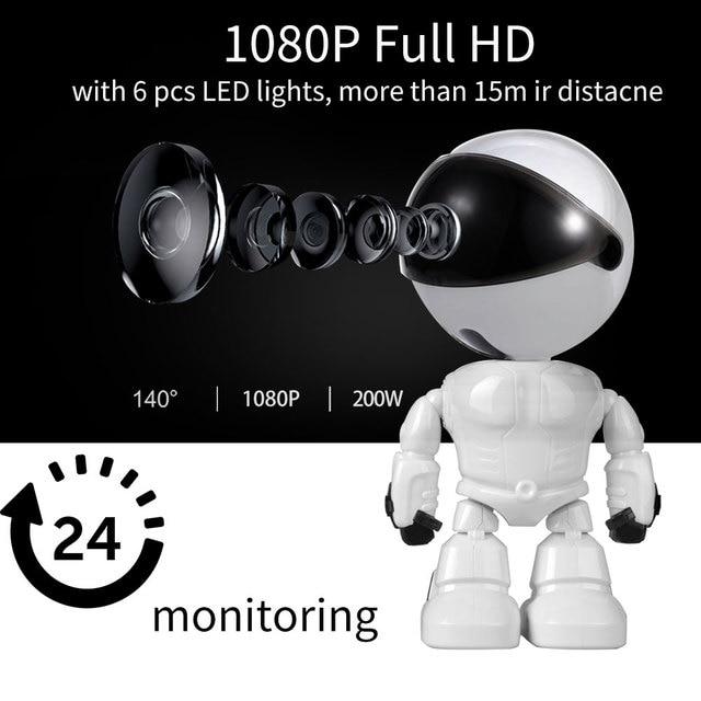 Caméra de Surveillance intelligente IP WiFi HD 1080P, dispositif de sécurité domestique sans fil, babyphone vidéo, avec enregistrement Audio et vidéo