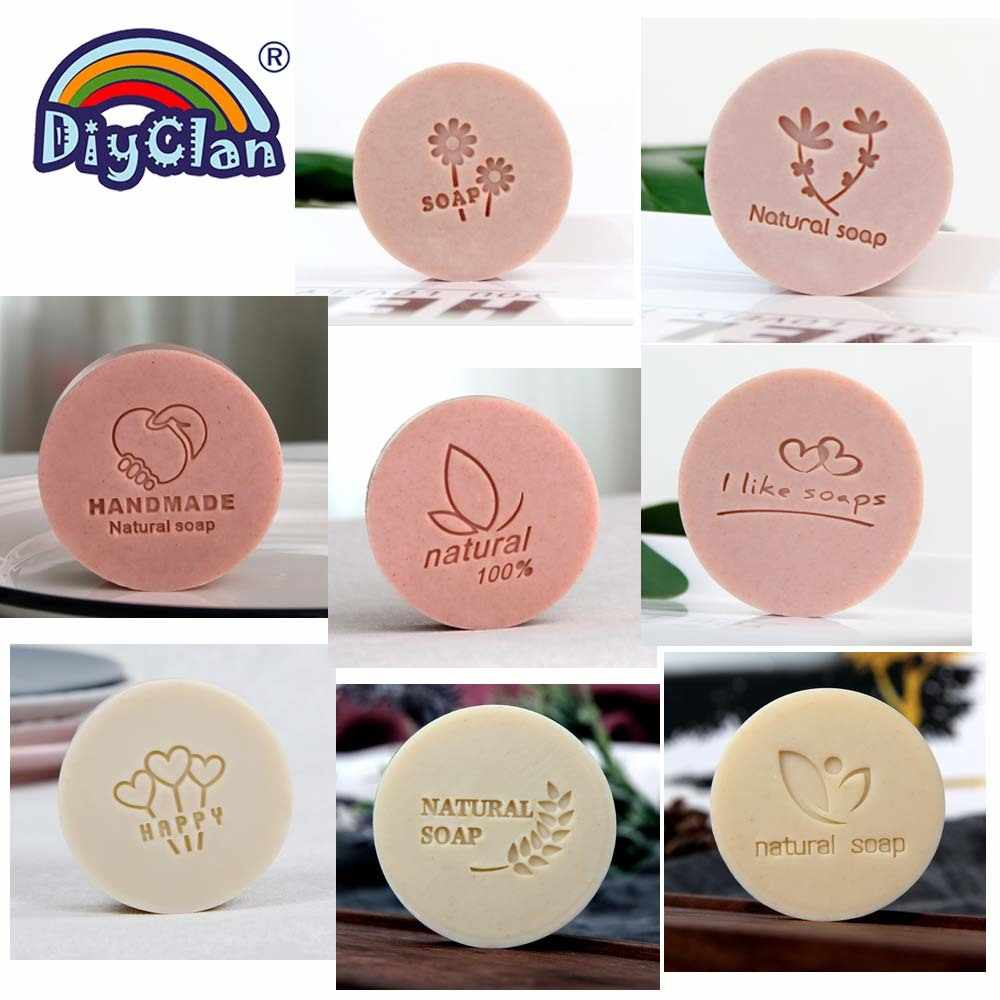 Flower And Leaf Handmade Soap Stamp Transparent Diy Natural Organic Soap Making Tools Accessories Branch Resin Acrylic Chapters