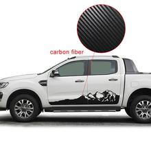 car wrap Mountain graphic side body door stripe waistline styling stickers for Ford Ranger