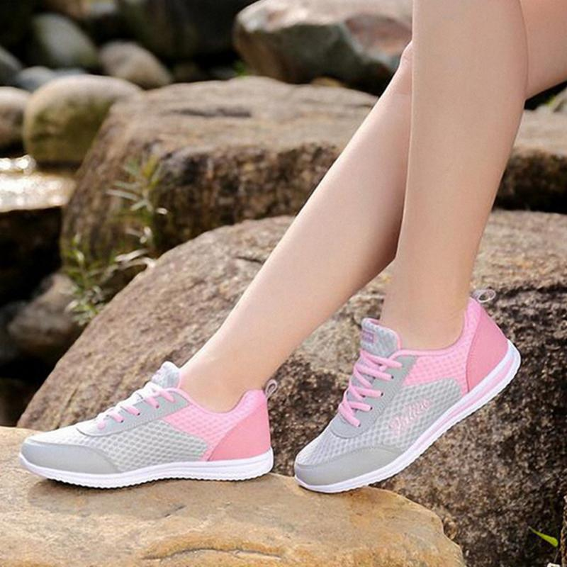 Plus Size Women Light Running Shoes Women Mesh Breathable Sport Shoes Womens Trainers Sneakers Zapatillas Deportivas #1016Plus Size Women Light Running Shoes Women Mesh Breathable Sport Shoes Womens Trainers Sneakers Zapatillas Deportivas #1016