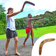 Outdoor Sports Wood Professional Boomerang Dart back V-Shaped Flying Disc Toys For Kids Gift