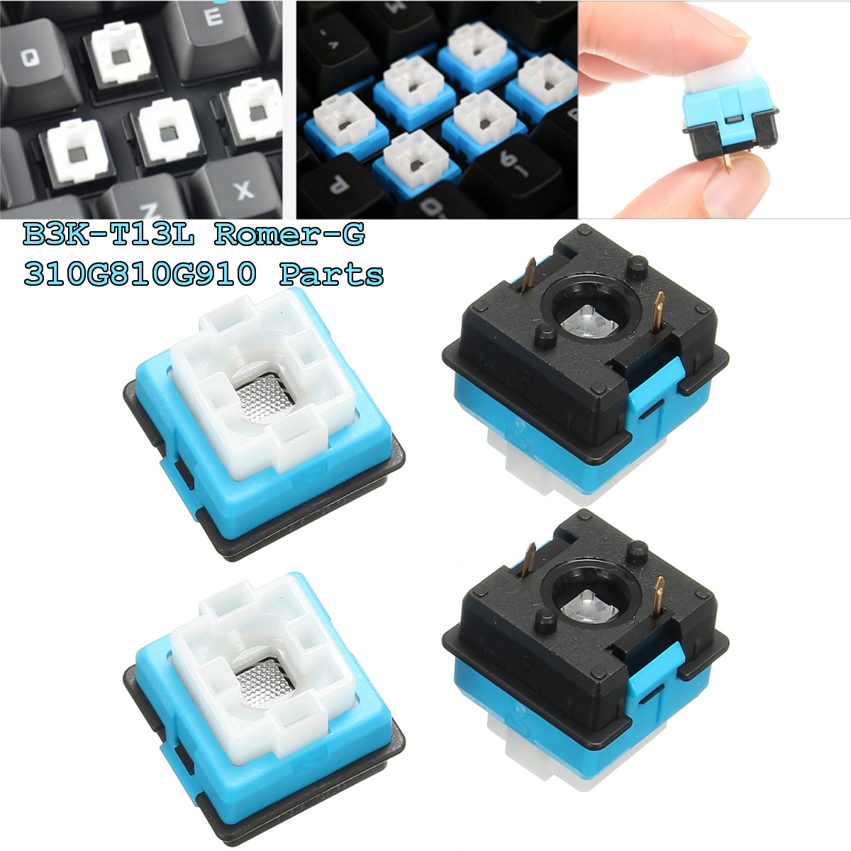 4pcs RGB Original For OMRON Romer-G Switch For Ormon Axis For Logitech G910 G810 G310 Pro Cherry Mechanical Keyboard Switch