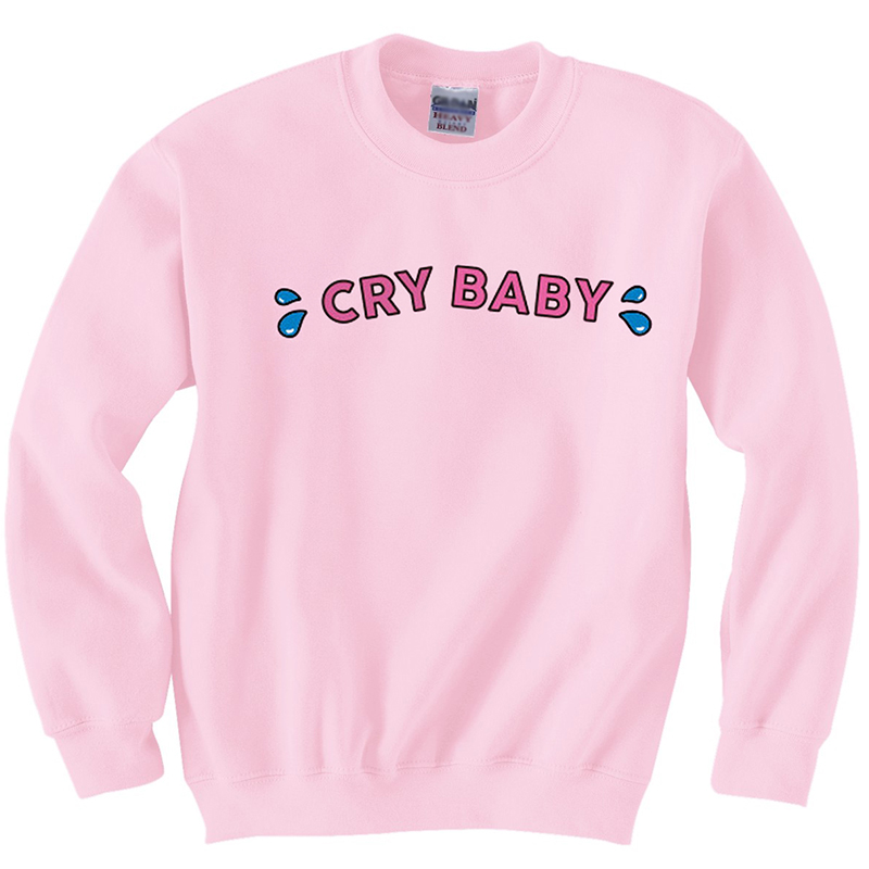 5b73dfc29 Detail Feedback Questions about Cry Baby Letter Sweatshirts Women ...