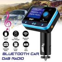 DAB Digital Radio Receiver FM Tuner Radio Car bluetooth 4.2 Transmitter Adapter FM DAV/DAB Tuner Broadcasting