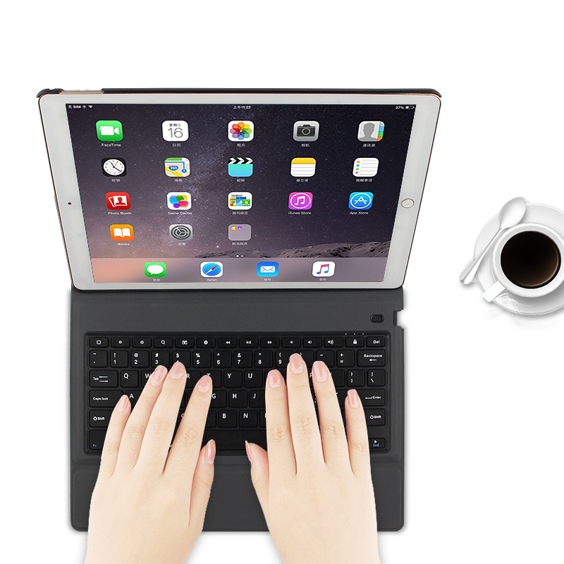 For iPad Pro 12.9 2017 Wireless Bluetooth Keyboard Cover Case For iPad Pro 12.9 inch 2015 Tablet A1584 A1652 A1670/1 Case Cover