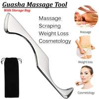 304 Stainless Steel Gua Sha Board Massager Tool Guasha Scraper Physical Therapy Loose Muscle Meridian Massage SPA Body Health