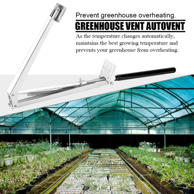US $15 87 33% OFF|Greenhouse Automatic Window Opener Solar Powered  Thermofor Vent Autovent Solar Heat Sensitive 45cm Greenhouses Roof  Opener-in