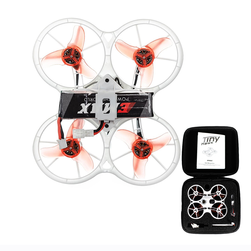 Emax Tinyhawk 75mm Mini 5.8G FPV F4 4in1 3A 15000KV 37CH 25mW 600TVL VTX 1S Indoor Racer Drone with FRSKY D8 Receiver Carry CaseEmax Tinyhawk 75mm Mini 5.8G FPV F4 4in1 3A 15000KV 37CH 25mW 600TVL VTX 1S Indoor Racer Drone with FRSKY D8 Receiver Carry Case