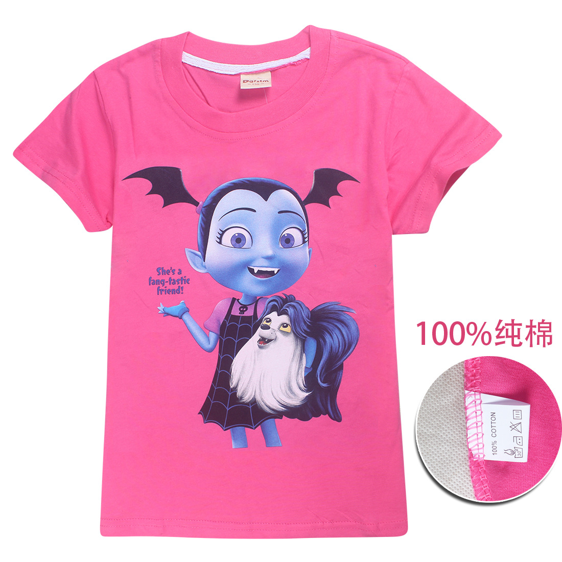 02b3f0e29 2018 Summer Kids girls T Shirt Cartoon Vampirina Baby girl Toddler Tees  Boys Cotton Tops and moana Tees Children trolls T shirts-in Tees from  Mother & Kids ...