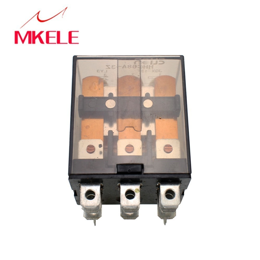 Electronic micro mini electromagnetic relay HHC68A 3Z LY2 DC24V AC220V coil 8 pins power electro magnetic with lowest price in Relays from Home Improvement