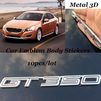 10pcs/lot Car Accessories Stickers body decor badge For Ford GT mustang GT350 kuga fusion fiesta transit Emblem Badge