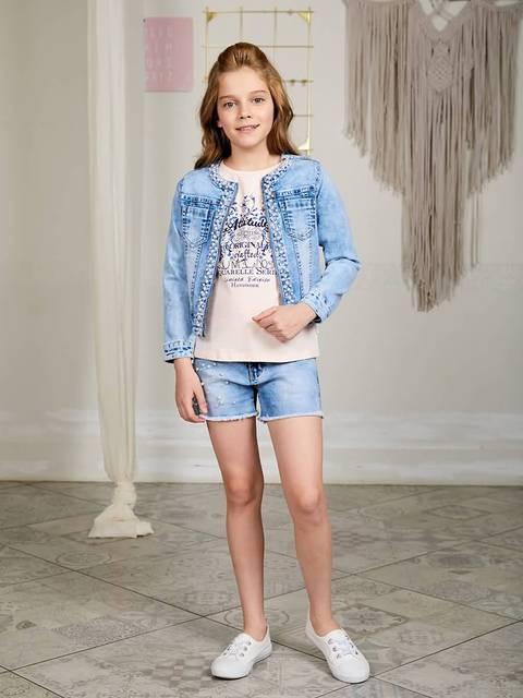 Куртка джинсовая Luminoso для девочек