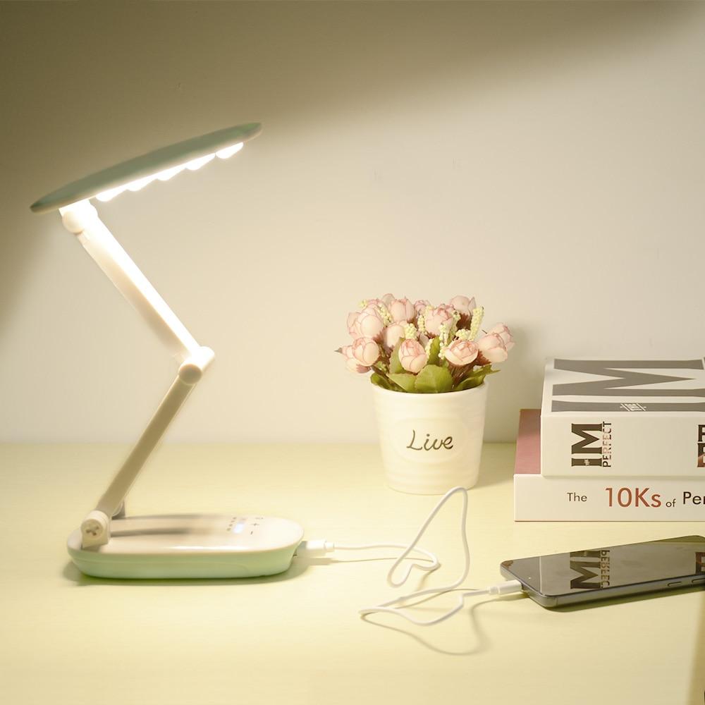 Schreibtischlampen Licht & Beleuchtung Realistisch 18650 Batterie Tragbare Led Schreibtisch Lampe 4 Modi Dimmer Folding 3-schicht Körper Tisch Licht Wiederaufladbare Usb Led Tisch Lampen