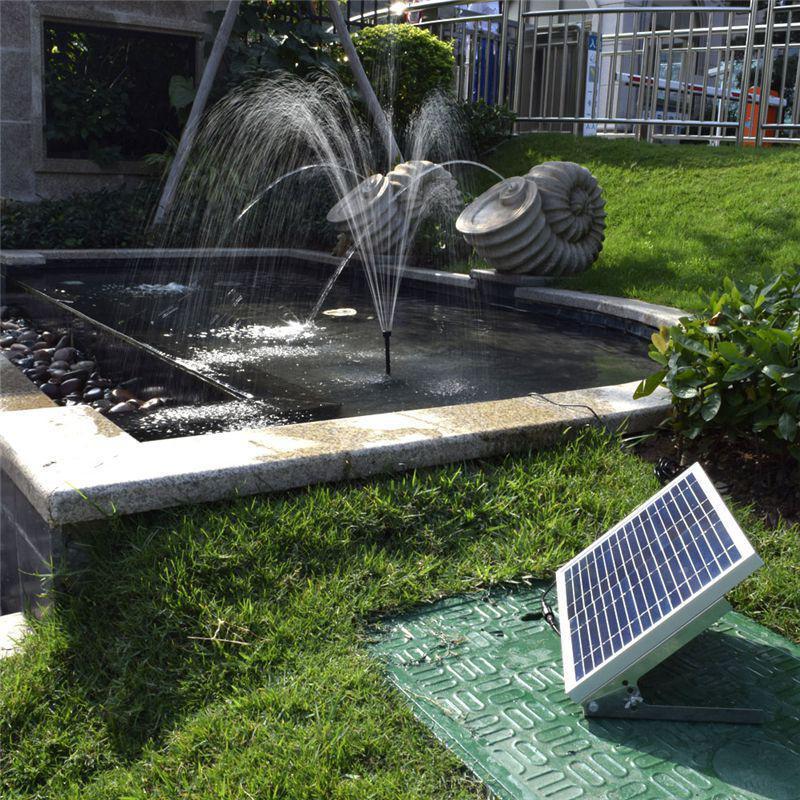 1350L/H Solar Panel Bürstenlosen Wasser Brunnen Pumpe System 17V 10W Solar Panel Garten Bewässerung Kit Für verschiedene Umfang Gartenarbeit-in Brunnen & Vogeltränken aus Heim und Garten bei  Gruppe 2