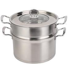 Высококачественная двухслойная Пароварка из нержавеющей стали 26 см, кастрюля, кухонная посуда, бытовой инструмент для приготовления пищи, Новинка